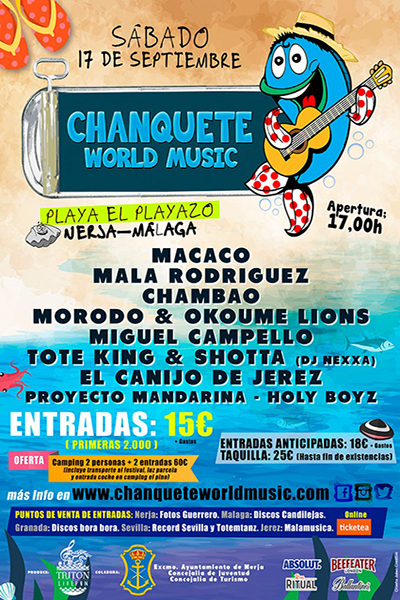 Chanquete World Music en Nerja