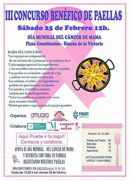 III Concurso Benéfico de Paellas, por la lucha contra el cáncer de mama